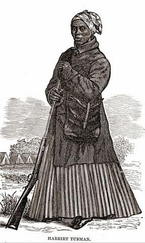 Harriet Tubman woodcut www.womenwordswisdom.com